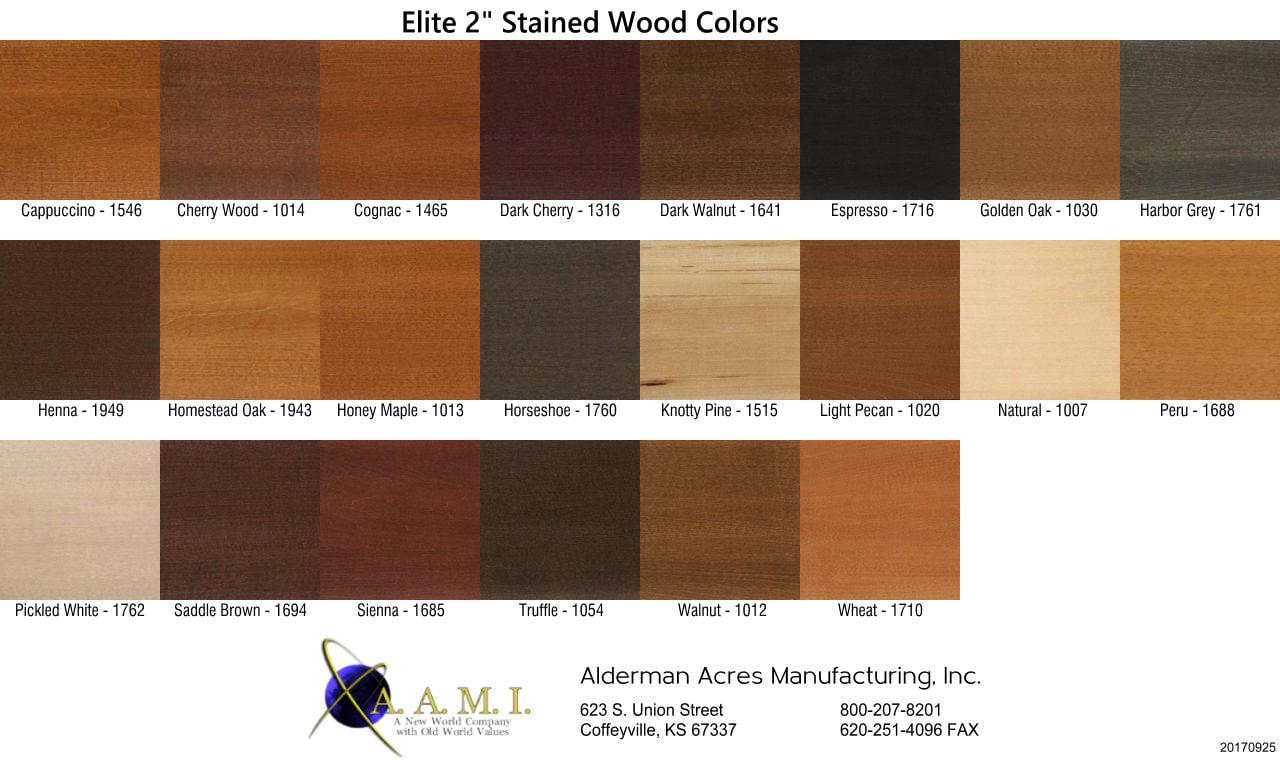 Blinds Real Wood Horizontal Alderman Acres Manufacturing